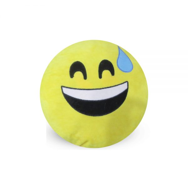 Emoji Emoticon Yellow Round Cushion Stuffed Pillow 03