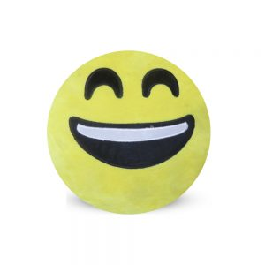 Emoji Emoticon Yellow Round Cushion Stuffed Pillow 05