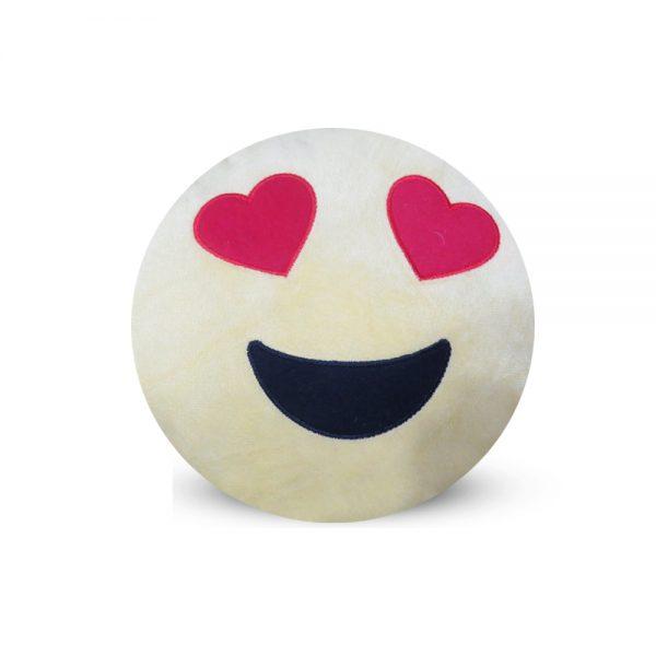 Emoji Emoticon Yellow Round Cushion Stuffed Pillow 06