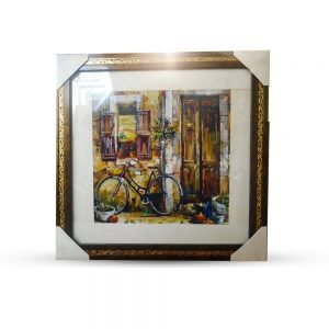 Beautiful Scenery Multi Coloured Painting with Mirror Frame