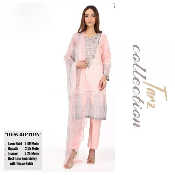 Women Summer Collection Unstitched 3-pc Multi Lawn Suit 09
