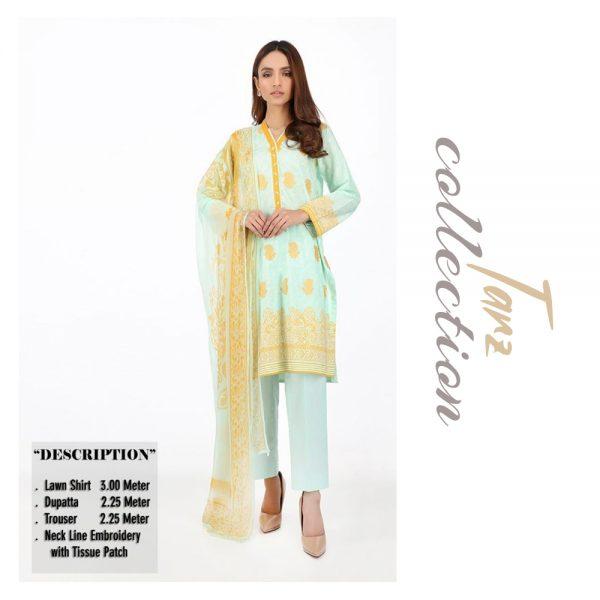 Women Summer Collection Unstitched 3-pc Multi Lawn Suit 10