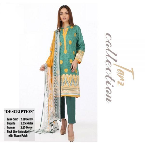 Women Summer Collection Unstitched 3-pc Multi Lawn Suit 11
