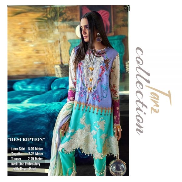 Women Summer Collection Unstitched 3-pc Multi Lawn Suit 13