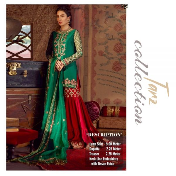 Women Summer Collection Unstitched 3-pc Multi Lawn Suit 16