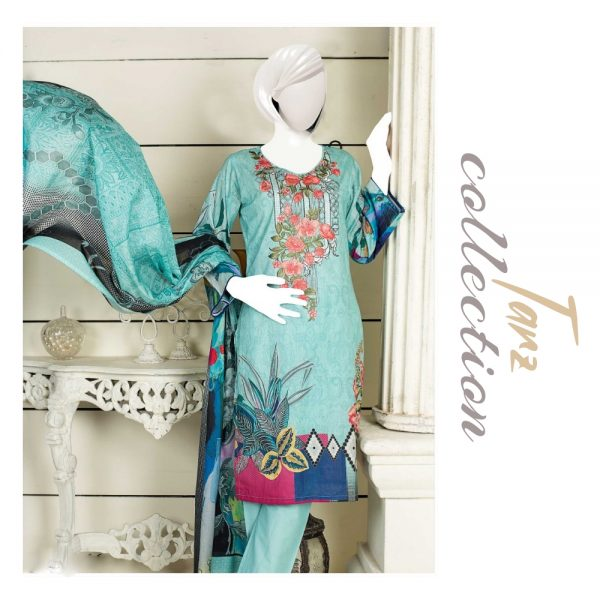 Women Summer Collection Unstitched 3-pc Multi Lawn Suit 19