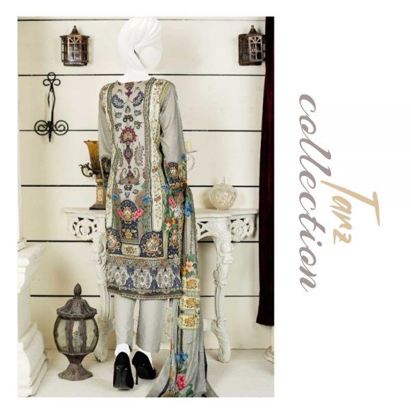 Women Summer Collection Unstitched 3-pc Multi Lawn Suit 20