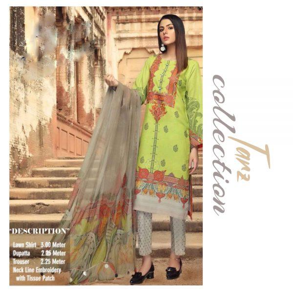 Women Summer Collection Unstitched 3-pc Multi Lawn Suit 21