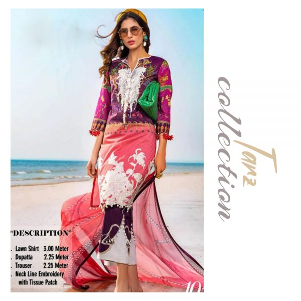 Women Summer Collection Unstitched 3-pc Multi Lawn Suit 24