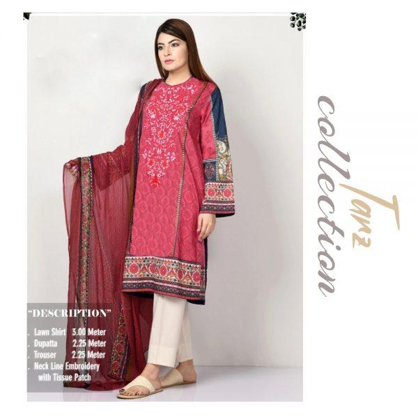 Women Summer Collection Unstitched 3-pc Multi Lawn Suit 02