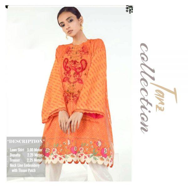 Women Summer Collection Unstitched 3-pc Multi Lawn Suit 04