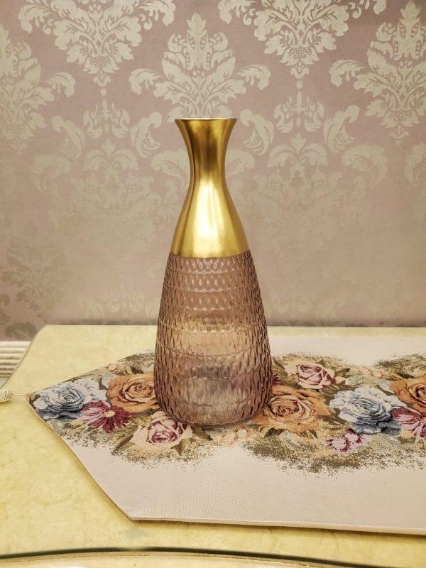 Color Crystal Glass Long Neck Flowers Vase