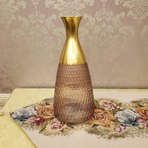Color Crystal Glass Long Neck Flowers Vase