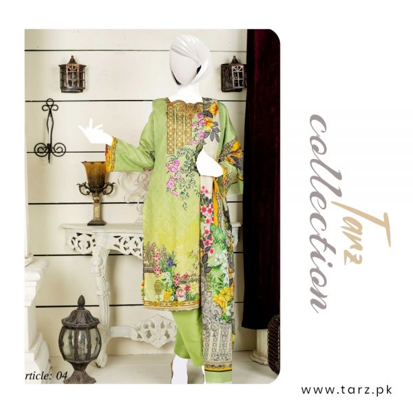 Women Summer Collection Unstitched 3-pc Multi Lawn Suit 80