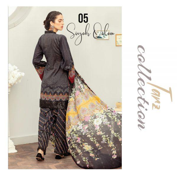 Women Luxury Lawn Unstitched 3-pc Suit Siyah Qalam 05