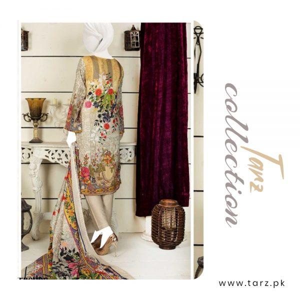 Women Summer Collection Unstitched 3-pc Multi Lawn Suit 83