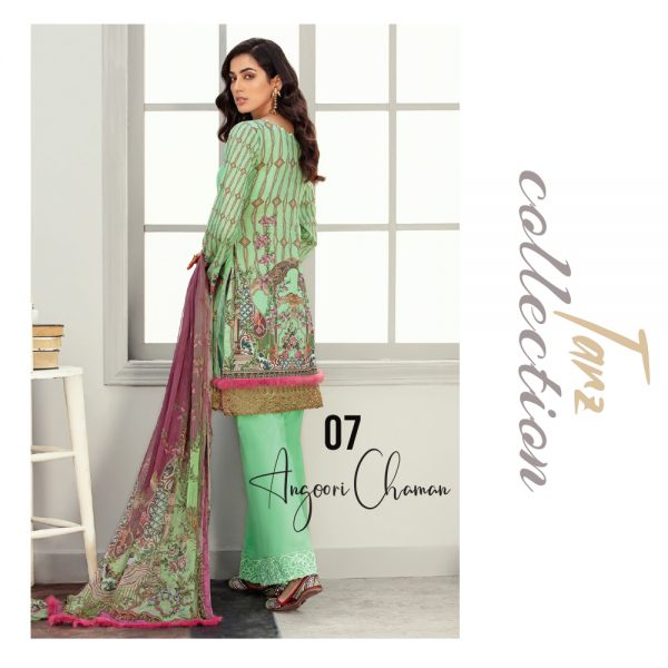 Women Luxury Lawn Unstitched 3-pc Suit Angori Chaman 07