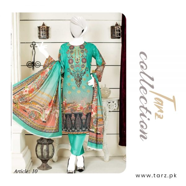 Women Summer Collection Unstitched 3-pc Multi Lawn Suit 84