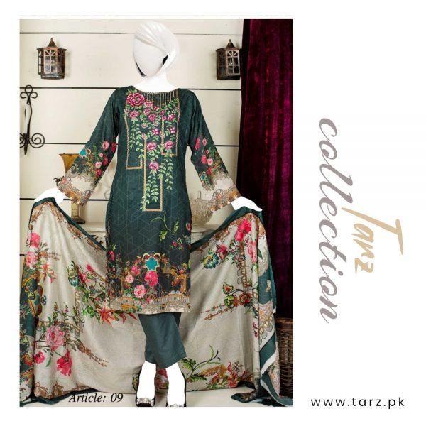 Women Summer Collection Unstitched 3-pc Multi Lawn Suit 86