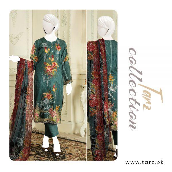 Branded Lawn shirt with Digital Embroidery & Chiffon Dupatta 3-pc 71