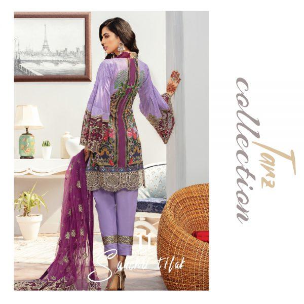 Women Luxury Lawn Unstitched 3-pc Suit Sunehri Tilak 11