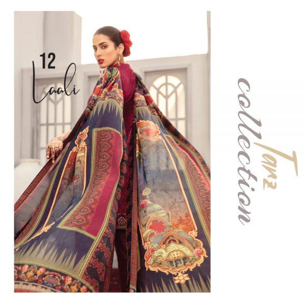 Women Luxury Lawn Unstitched 3-pc Suit Laali 12