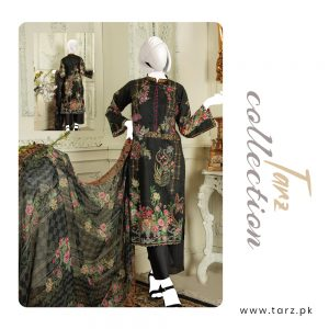 Branded Lawn shirt with Digital Embroidery & Chiffon Dupatta 3-pc 72