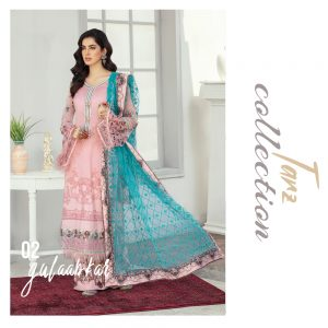 Women Luxury Lawn Unstitched 3-pc Suit Gulaabkar 02