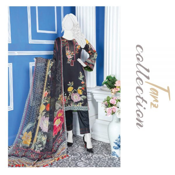 Women Summer Collection Unstitched 3-pc Multi Lawn Suit 26