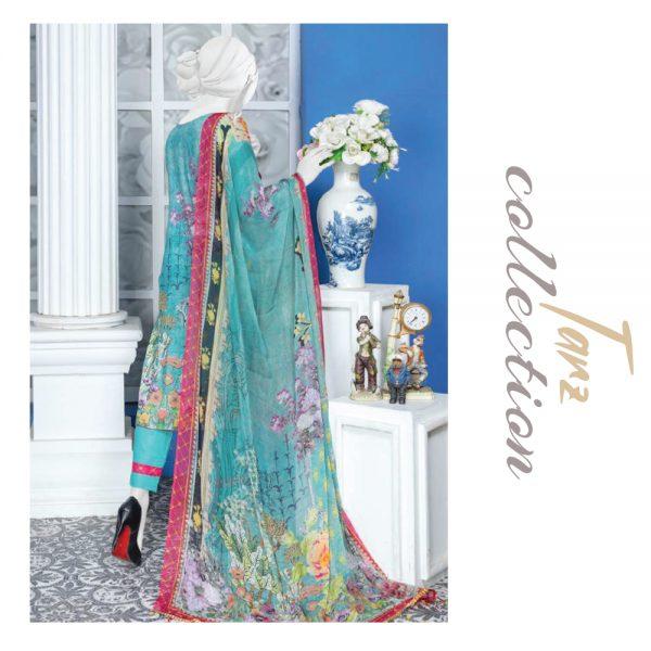 Women Summer Collection Unstitched 3-pc Multi Lawn Suit 28