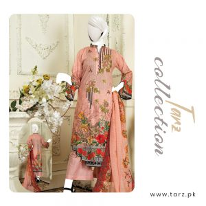 Branded Lawn shirt with Digital Embroidery & Chiffon Dupatta 3-pc 73