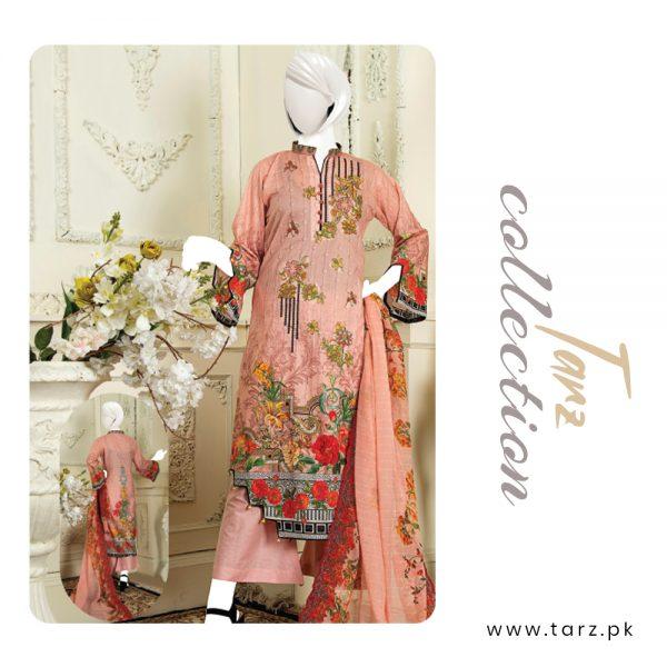 Branded Lawn shirt with Digital Embroidery & Chiffon Dupatta 3-pc 73