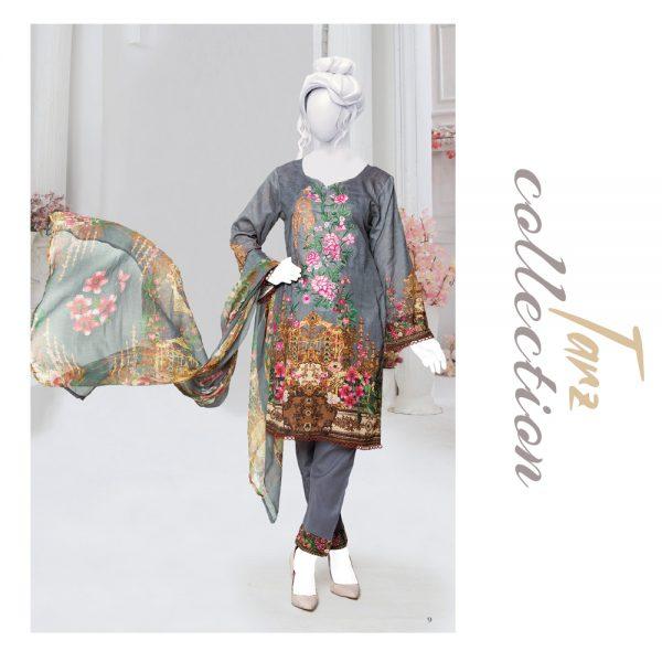 Women Summer Collection Unstitched 3-pc Multi Lawn Suit 32