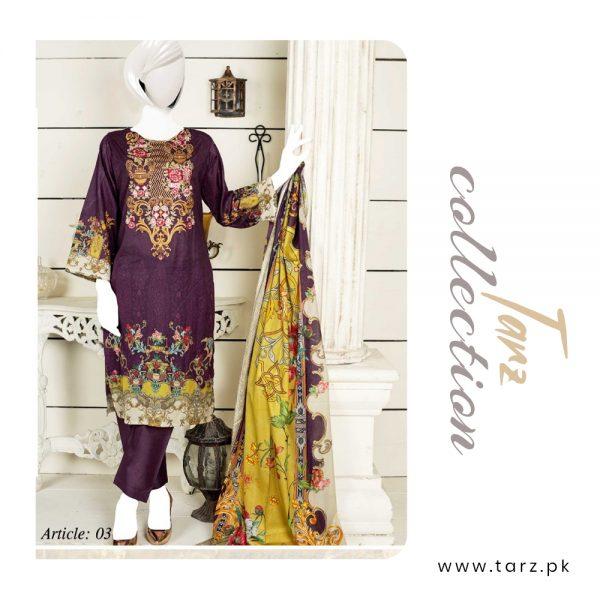 Women Summer Collection Unstitched 3-pc Multi Lawn Suit 81