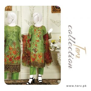 Branded Lawn shirt with Digital Embroidery & Chiffon Dupatta 3-pc 74