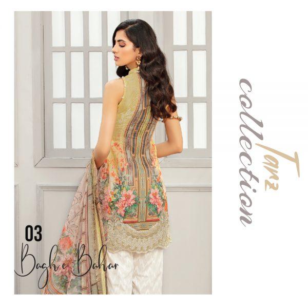 Women Luxury Lawn Unstitched 3-pc Suit Baghe Bahar 03