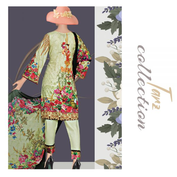 Women Summer Collection Unstitched 3-pc Multi Lawn Suit 33