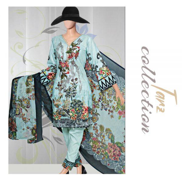 Women Summer Collection Unstitched 3-pc Multi Lawn Suit 34