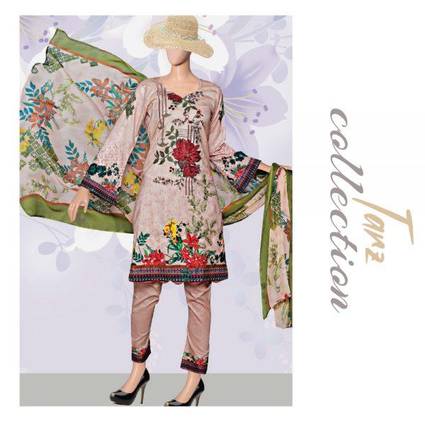 Women Summer Collection Unstitched 3-pc Multi Lawn Suit 36