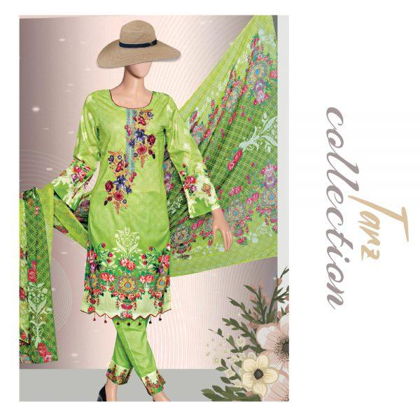 Women Summer Collection Unstitched 3-pc Multi Lawn Suit 37