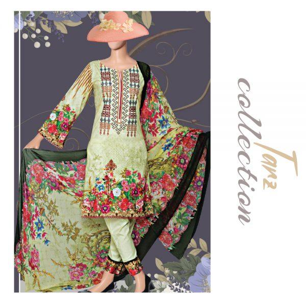 Women Summer Collection Unstitched 3-pc Multi Lawn Suit 38