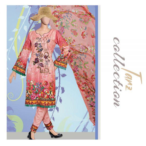 Women Summer Collection Unstitched 3-pc Multi Lawn Suit 39