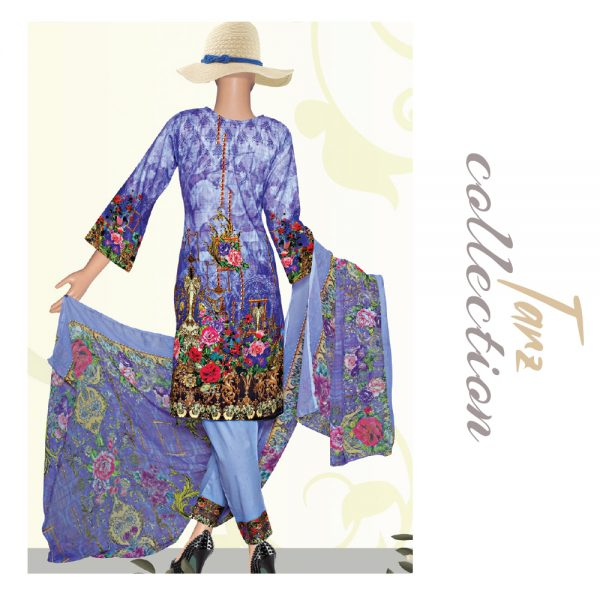 Women Summer Collection Unstitched 3-pc Multi Lawn Suit 40