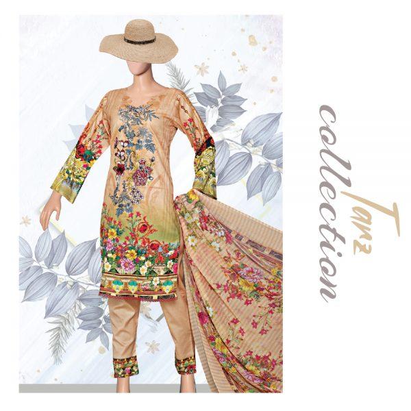 Women Summer Collection Unstitched 3-pc Multi Lawn Suit 41