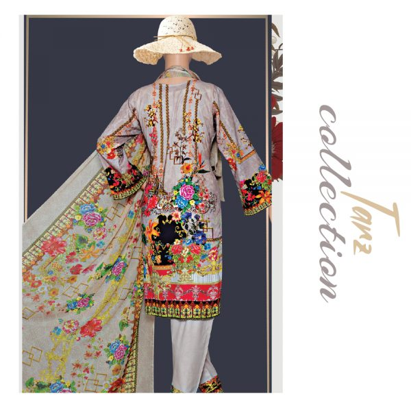 Women Summer Collection Unstitched 3-pc Multi Lawn Suit 42