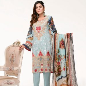 Branded Stitched Lawn 3 Piece Suit 0.7