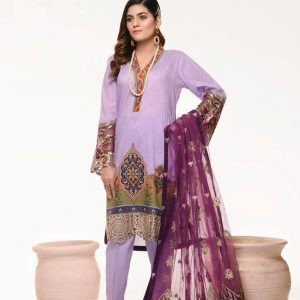 Branded Stitched Lawn 3 Piece Suit 0.10