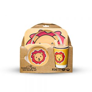 Eco-Friendly Kids Bamboo Fiber Dinner Set / Baby Dinner Set 001