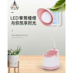 Pen Holder LED Table Lamp Pink
