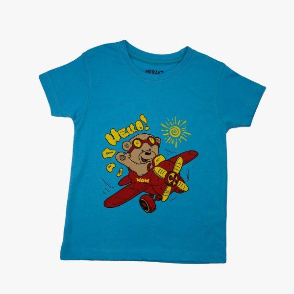 Kids T Shirt Bear Flying 05